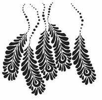 Crafter's Workshop Templates Peacock Feathers