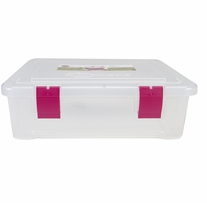 Creative Options File Tub Clear Magenta