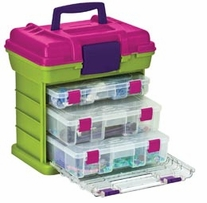 Creative Options Grab'n Go 3-By Rack System Green Magenta