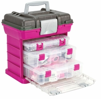 Creative Options Grab'n Go 3-By Rack System Magenta, Sparkle Gray