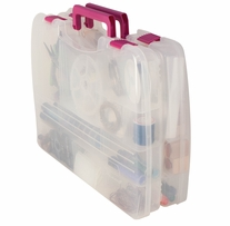 Creative Options Pro Latch Connectable Satchel Clear, Magenta