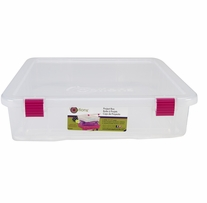 Creative Options Project Box Clear, Magenta