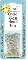 Crystal Glass Head Pins Size 30 100/Pkg C110
