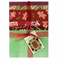 Cuddly Quilt Kits Christmas Gingerbread Lane