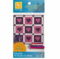 Curved Heart Template 4inx6in 1/Pkg