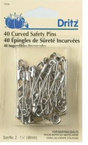 Curved Safety Pins Size 2, 40/Pkg
