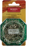 Curved Safety Pins Size 2, 65/Pkg