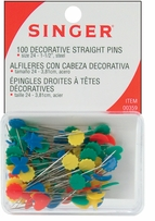Decorative Flat Flower Straight Pins