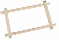 Deluxe Hardwood Scroll Frame 6inX12in