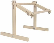 Deluxe Hardwood Scroll Frame Lap Stand