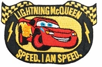 Disney Cars Iron-On Appliques Lightning Mcqueen I Am Speed