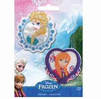 Disney Frozen Iron-On Appliques Elsa & Anna
