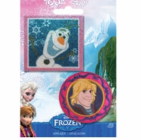 Disney Frozen Iron-On Appliques Olaf & Kristoff