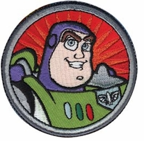 Disney Iron-On Appliques Toy Story Buzz Lightyear