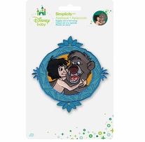 Disney Jungle Book Mowgli With Baloo Framed Iron-On Applique