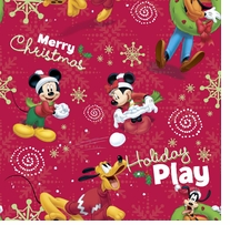 Disney Mickey Holiday Play 44in Wide 100% Cotton D/R