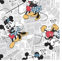 Disney Mickey & Minnie Vintage Mickey & Minnie All Over The News