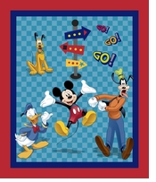 Disney Mickey Mouse & Friends Friends On The Go Panel 43/44inX15yds D/R
