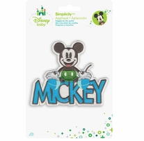 Disney Mickey Mouse Mickey With Name Iron-On Applique