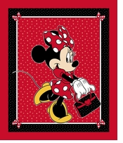 Disney Minnie & Purse Panel 43/44inX15yds D/R