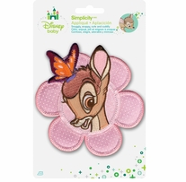 Disney's Bambi Portrait with Butterfly Iron On Applique