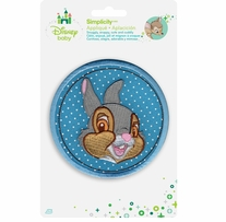 Disney's Bambi, Thumper Circle Iron On Applique