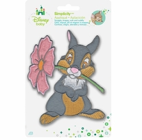 Disney's Bambi, Thumper with Flower Iron-On Applique