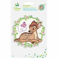 Disney's Bambi with Flowers Iron On Applique