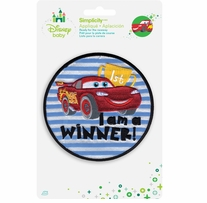 Disney's Cars I'm A Winner Iron On Applique
