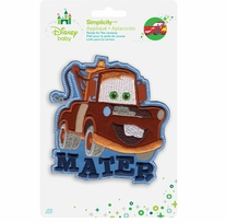 Disney's Cars Mater Iron On Applique with words