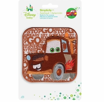 Disney's Cars Mater Over Text Iron On Applique