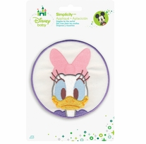 Disney's Daisy Duck in Lavender Circle Iron On Applique