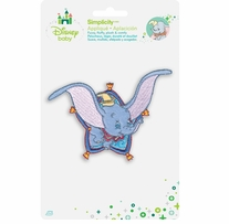 Disney's Dumbo Flying Dumbo Iron On Applique