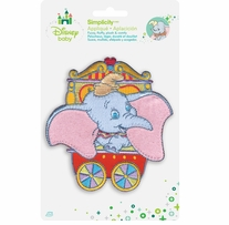Disney's Dumbo in Red Circus Cart Iron On Applique