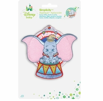 Disney's Dumbo Sitting Dumbo Iron On Applique