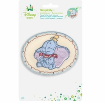 Disney's Dumbo Smiling Dumbo Iron On Applique