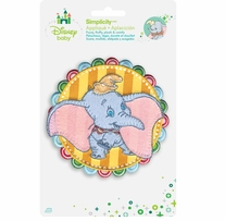 Disney's Dumbo Striped Circle Iron On Applique