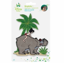Disney's Jungle Book Mowgli and Baloo Iron On Applique