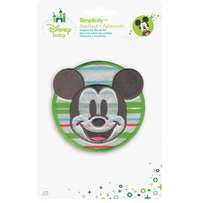 Disney's Mickey Mouse Circle Portrait Iron On Applique
