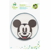 Disney's Mickey Mouse in Blue Circle Iron On Applique
