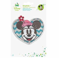 Disney's Minnie Mouse Heart Portrait Iron On Applique