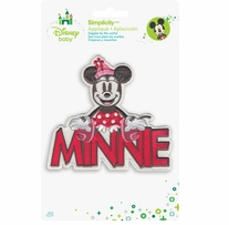 Disney's Minnie Mouse Name Iron On Applique