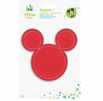 Disney's Minnie Mouse Silhouette in Pink Iron On Applique
