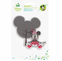 Disney's Minnie Mouse With Tree Iron On Applique