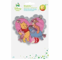 Disney's Winnie the Pooh and Friends Heart Iron On Applique