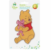 Disney's Winnie the Pooh and Pink Teddy Bear Iron On Applique