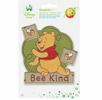 Disney's Winnie the Pooh, Bee Kind Iron On Applique