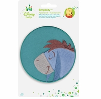 Disney's Winnie the Pooh, Eeyore Sleeping Iron On Applique