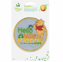 Disney's Winnie the Pooh, Hello Little Friends Iron On Applique