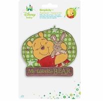 Disney's Winnie the Pooh, My Favorite Bear Iron On Applique